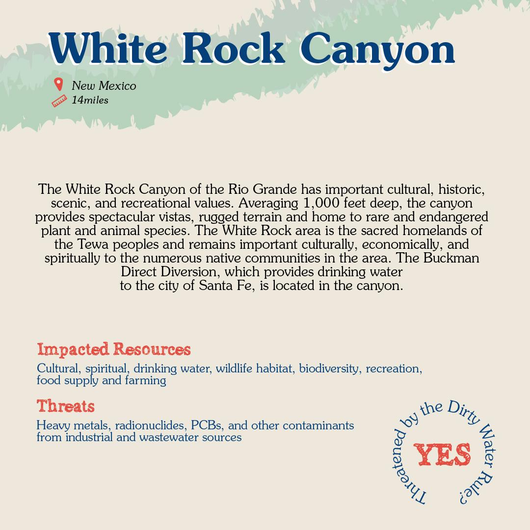 White Rock Canyon Card back