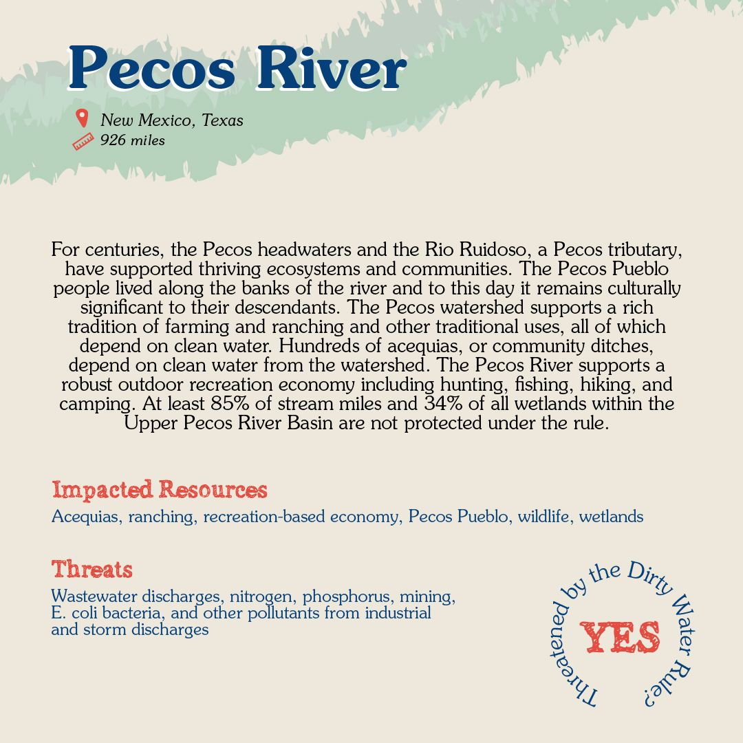 Pecos River Card back