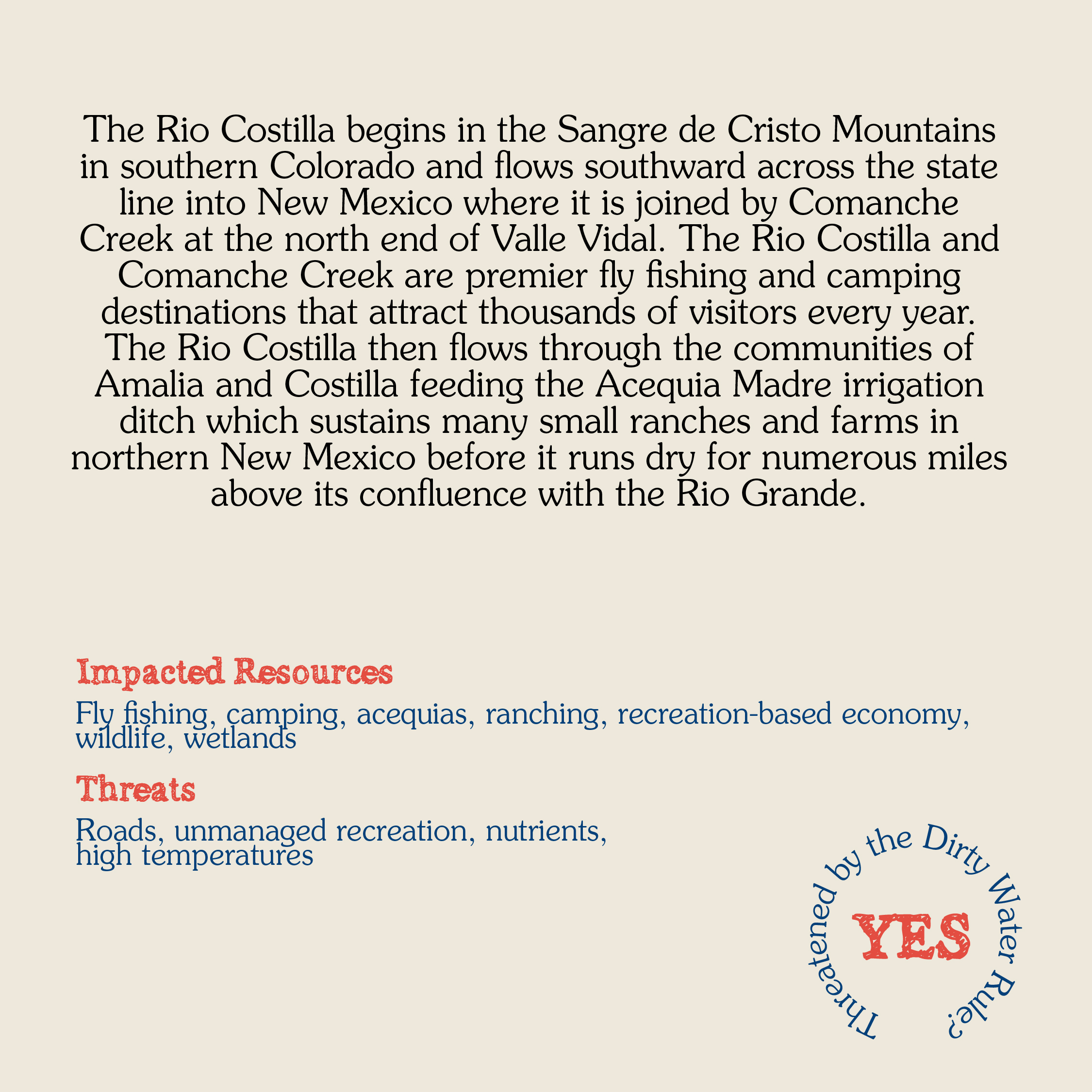 Rio Costilla Card back WEB
