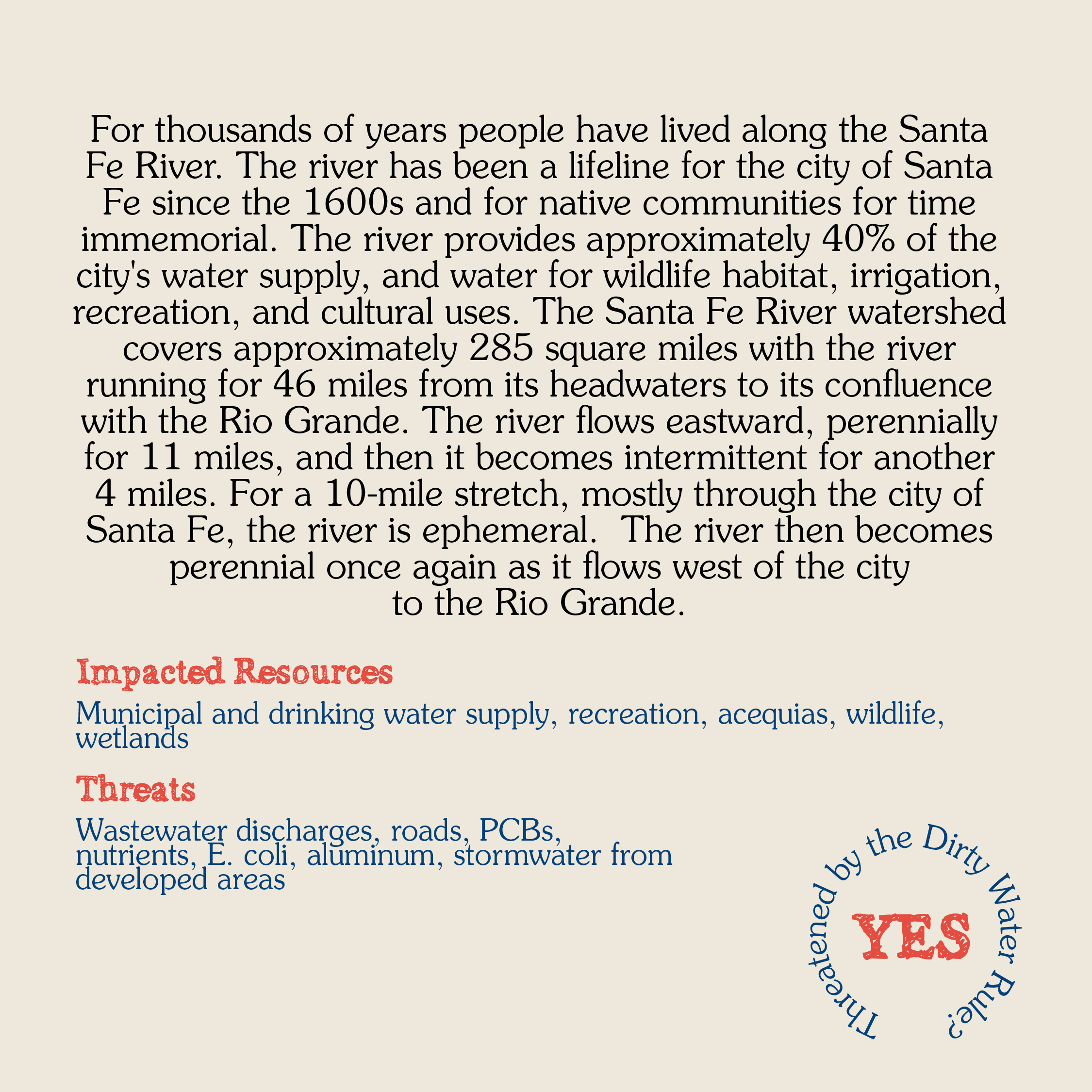 Santa Fe River Card back WEB